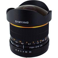 Samyang 8mm Ultra Wide Angle f/3.5 Fisheye, Manual Focus ...