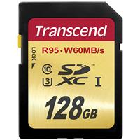 Transcend 128GB UHS-I U3 Class 10 SDXC Memory Card for Di...