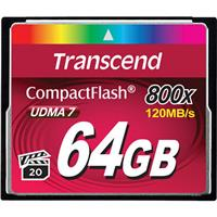Transcend 64GB Premium 800x CompactFlash CF Card, 120/40 ...