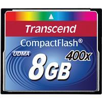Transcend 8GB Premium 400x CompactFlash Card for DSLR Cam...