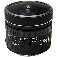 Sigma 8mm f/3.5 EX DG Circular Fisheye Auto Focus Lens fo...