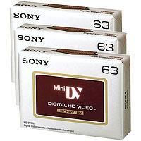 Sony Mini-DV 3 Pack DVM 63 Minute High Definition Video T...