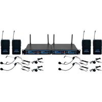 VocoPro UDH-PLAY 4 Four Channel UHF/DSP Hybrid Bodypack W...