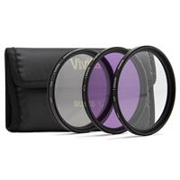 Vivitar 3-Piece 40.5mm Filter Kit - UV, CPL, FDL