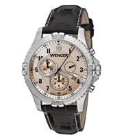 Wenger Squadron Chrono Large Swiss Quartz Men's Watch, Le...