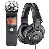 H1 Ultra-Portable Digital Audio Recorder - Bundle With Au...