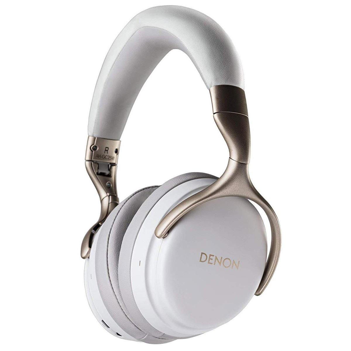 Denon AH-GC25W Premium Wireless Headphones with aptX Bluetooth | White