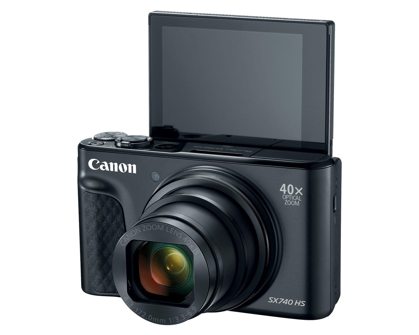 Canon PowerShot SX740 HS Digital Camera, Black