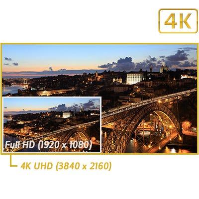 4K 30p, Full HD 60p, HD 120p