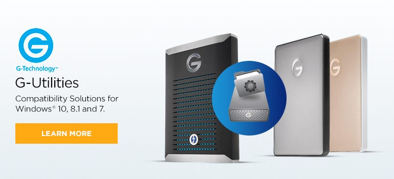 G-Technology G-Utilities Compatibility Solution for Windows | Adorama
