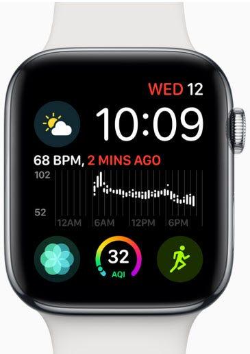 Apple Watch Series 4, GPS + Cellular, 44mm, Space Black Stainless Steel  Case, Space Black Milanese Loop