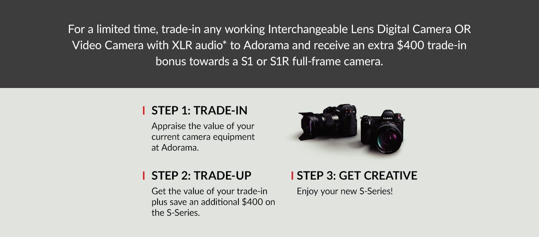 Panasonic Lumix S-Series Trade In Trade It Up! Event   Adorama