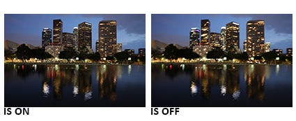 Optical Image Stabilization of up to 5 Stops of Shake Correction