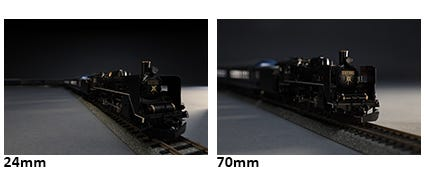 Minimum Focusing Distance of 0.69 ft./0.21m (wide), 1.25 ft./0.38m (tele)