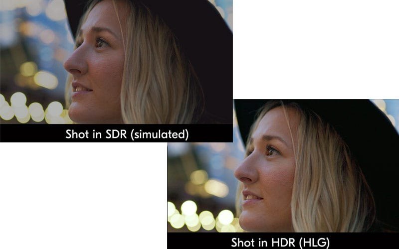 Source detail retention with 10-Bit N-Log or new HDR (HLG).