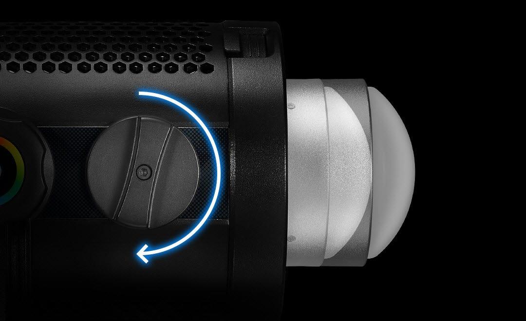 light easily, film efficiently