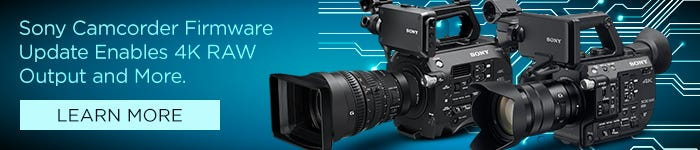 SONY Camcorder Firmware Update Enables 4K RAW Output and More