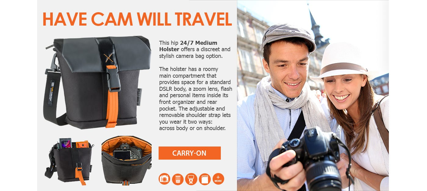 24/7 Traffic Collection Camera Bags