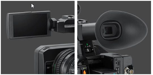 Accurate OLED viewfinder
