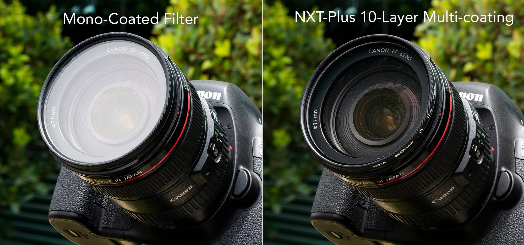 Low-Profile Aluminum Frame NXT Plus 67mm 10-Layer HMC Multi-Coated Circular Polarizer Lens Filter Hoya NXT Plus 67mm 10-Layer HMC Multi-Coated UV Lens Filter