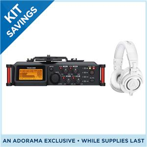 Tascam DR-70D 4-Channel Audio Recorder Bundle