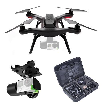 3D Robotics Solo Ready-to-Fly Aerial Photography Quadcopter Drone With 3DR Solo Gimbal for GoPro HERO3+ and HERO4 Cameras and Handheld Transmitter And Adorama Cleaning Kit For Optics And Lenses