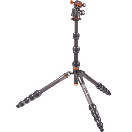 3 Legged Thing Eclipse Albert Carbon Fiber Travel Tripod System with AirHed 360 Ball Head - Grey