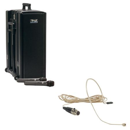 Anchor Audio Beacon BDP-7500/EM/LM AC/DC Powered Sound System with MP3 Player, Two Wireless Receiver, Ultralite/Lapel Microphone, Bodypack Transmitter