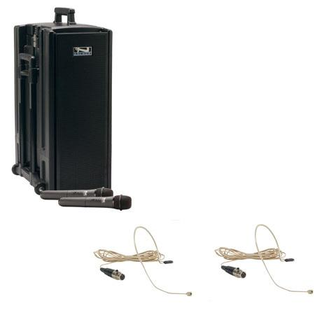 Anchor Audio Beacon BDP-7500/EM/EM AC/DC Powered Sound System with MP3 Player, Two Wireless Receiver, Two UltraLite Microphones, Bodypack Transmitter
