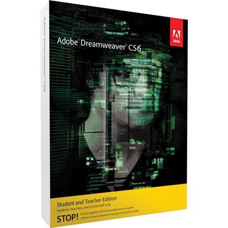 Adobe Student Edition Dreamweaver CS6 Macintosh --- IMPORTANT NOTICE: This Student Edition is Absolutely Not Refundable, Verify your Eligibility with Adobe, Before you make your Purchase