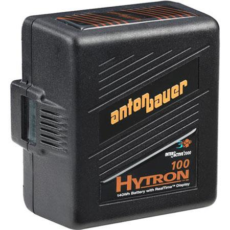 Anton Bauer Logic Series Hytron 100 Digital Nickel Metal Hydride Battery 14.4 volts, 100 watt hours, Anton Bauer 3-Stud Gold Mount