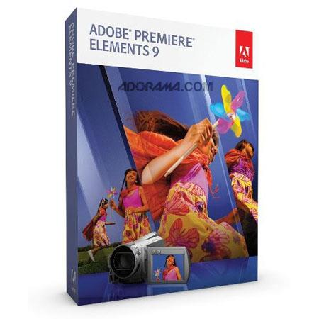 Adobe Premiere Elements 9.0, Full Version Graphics, Designing / Movie Editing Software for Windows and Mac image