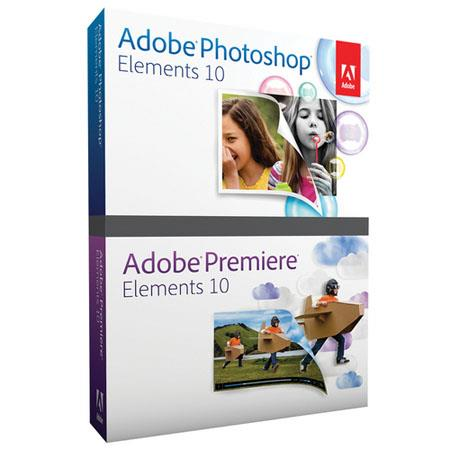Adobe Photoshop Elements 10.0 and Premiere Elements 10.0 Bundled Software for Windows And Mac
