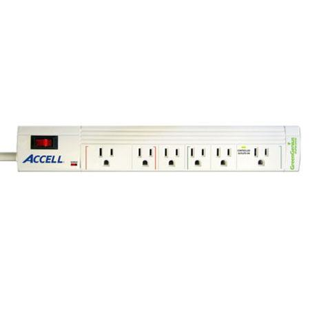 Accell GreenGenius Smart Surge Protector and Power Conditioner, 6 Outlets