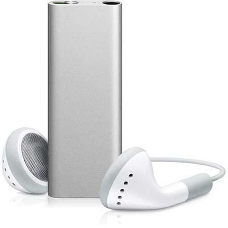 Apple iPod Shuffle 3rd Gen 4GB Digital Player with VoiceOver, 1000 Songs Capacity, Silver image