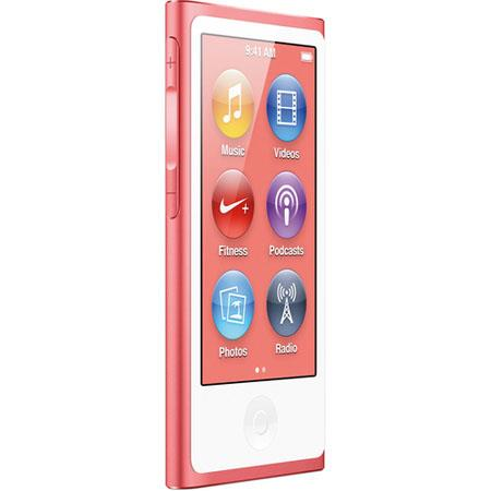 Apple MD475LL/A 16GB iPod Nano 7th Generation, Pink, USA Warranty