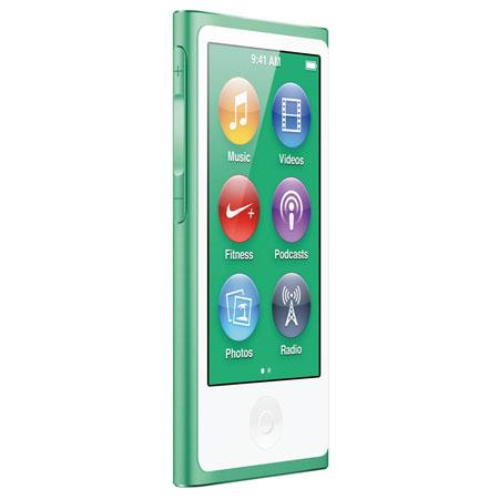 Apple MD478LL/A 16GB iPod Nano 7th Generation, Green, USA Warranty