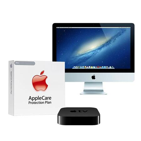 "Apple iMac 21.5"" All-in-One Desktop Computer, 1920 x 1080 LED, Intel Core i5 Quad-Core 2.7GHz, 8GB SDRAM, 1TB Fusion Drive - BUNDLE - with 3 Year Care Extended Protection Plan, APPLE TV"