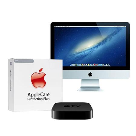 """Apple iMac 21.5"""" All in One Desktop Computer, 1920 x 1080 LED, Intel Core i7 Quad Core 3.1GHz, 8GB SDRAM, 512GB Flash Storage   BUNDLE   with 3 Year Care Extended Protection Plan, APPLE TV"""