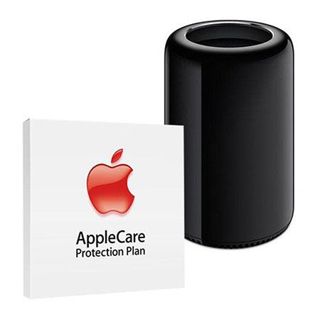 Apple Mac Pro Desktop, Intel Xeon E5 12-Core 2.7GHz, 16GB DDR3 ECC Memory, 256GB PCIe-Based Flash, Dual AMD FirePro D500 - BUNDLE - with 3 Year Care Extended Protection Plan