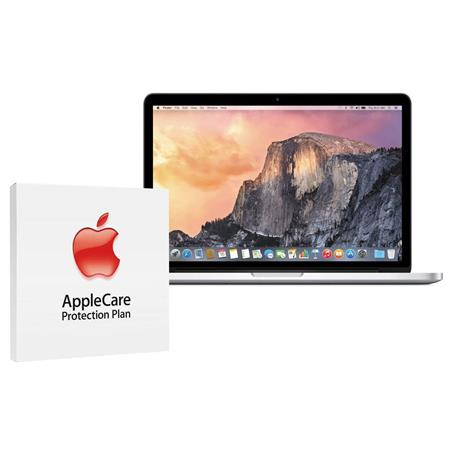 "Apple MacBook Pro 13.3"" Retina Display Notebook Computer, 3.1GHz Dual-core Intel Core i7 (Broadwell), 16GB DDR3 RAM, 128GB PCIe Flash Storage (2015) - Bundle With AppleCare 3 Year, Extended Protection Plan"
