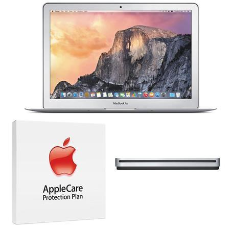"Apple MacBook Air 13.3"" Notebook Computer, 1.6GHz Dual-core Intel Core i5 (Broadwell), 8GB DDR3 RAM, 128GB PCIe Flash Storage (2015) - Bundle With AppleCare 3 Year, Extended Protection Plan"