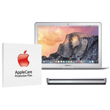 """Apple MacBook Air 13.3"""" Notebook Computer, 2.2GHz Dual-core Intel Core i7 (Broadwell), 8GB DDR3 RAM, 256GB PCIe Flash Storage (2015) - Bundle With AppleCare 3 Year, Extended Protection Plan"""