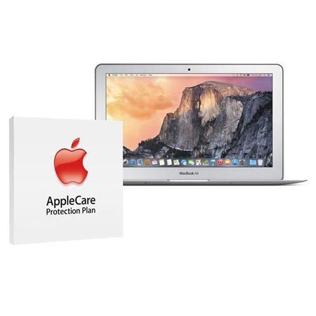 """Apple MacBook Air 11.6"""" Notebook Computer, 1.6GHz Dual-core Intel Core i5 (Broadwell), 8GB DDR3 RAM, 128GB PCIe Flash Storage (2015) - Bundle With AppleCare 3 Year, Extended Protection Plan"""