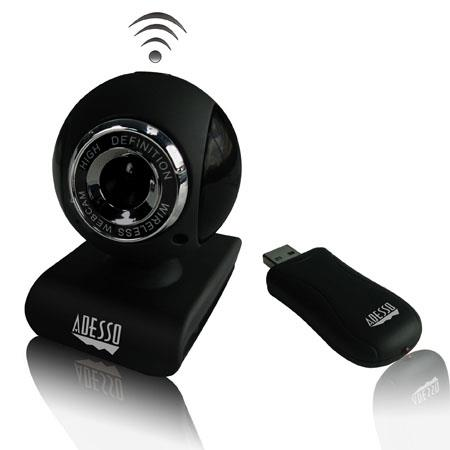"Adesso CyberTrack V10 2.4 GHz RF Wireless Webcam, 1/6"" (300K Pixels) CMOS Sensor, Manual Focus, USB 2.0"