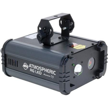 American DJ Atmospheric RG LED Lighting Effect, 30mW Green Laser, 80mW Red Laser, 3W Dark-Blue LED