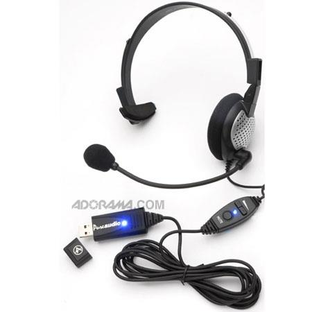 Andrea Electronics NC-181VM USB High Fidelity USB Monaural PC Headset with Noise Canceling Microphone, Volume and Mute Controls