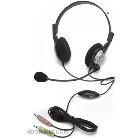 Andrea Electronics NC-185VM High Fidelity Stereo PC Headset with Noise Canceling Microphone, Volume and Mute Controls