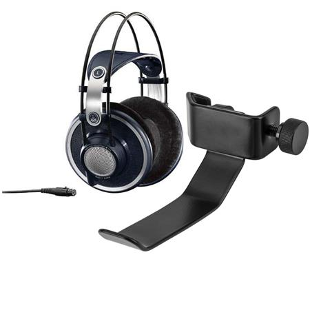 AKG Acoustics K 702 Open-Back Dynamic Headphone for Monitoring, Mastering and Mixing - With H&A Clamp On Headphone Holder...