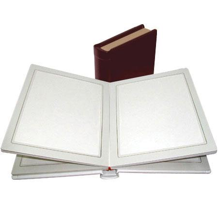 "Adorama Pro Photo Album, Burgundy Leatherette Cover with 18 Library Bound Off White Pages, Holds 36 5"" x 7"" Prints image"